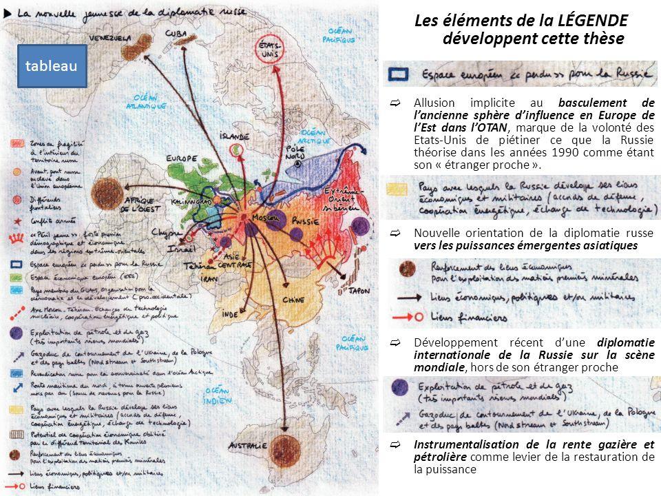 Les éléments de la LÉGENDE développent cette thèse Allusion implicite au basculement de lancienne sphère dinfluence en Europe de lEst dans lOTAN, marq