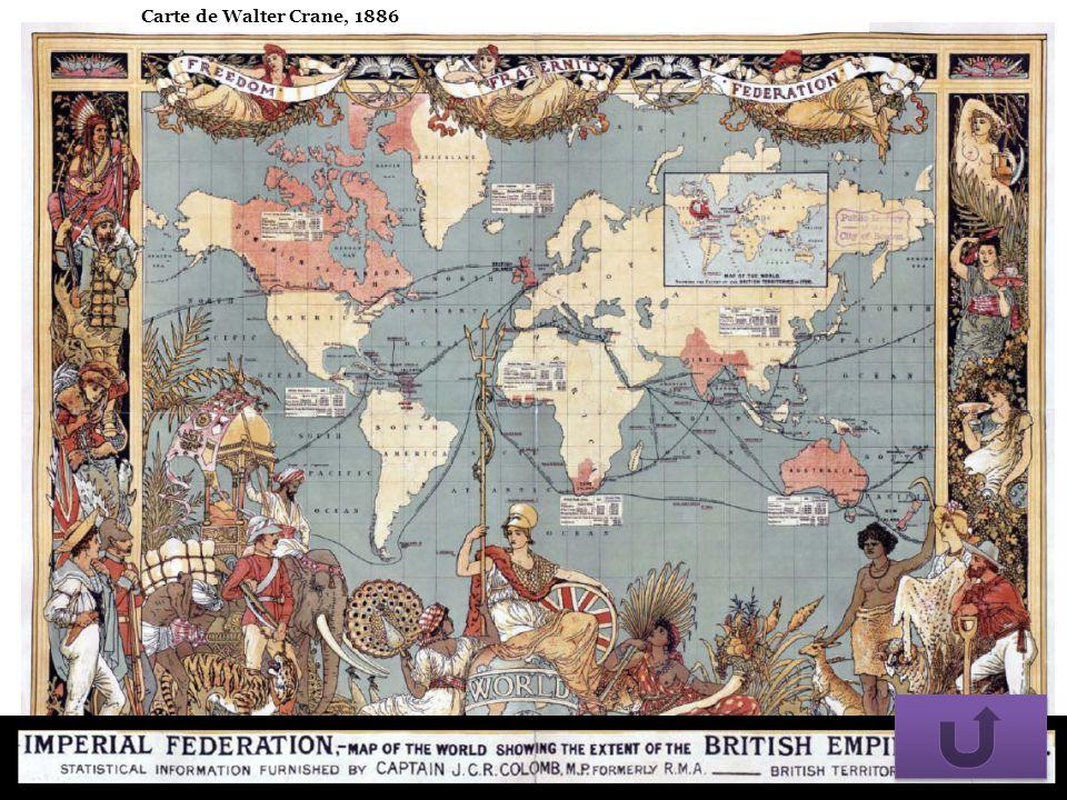 Carte de Walter Crane, 1886