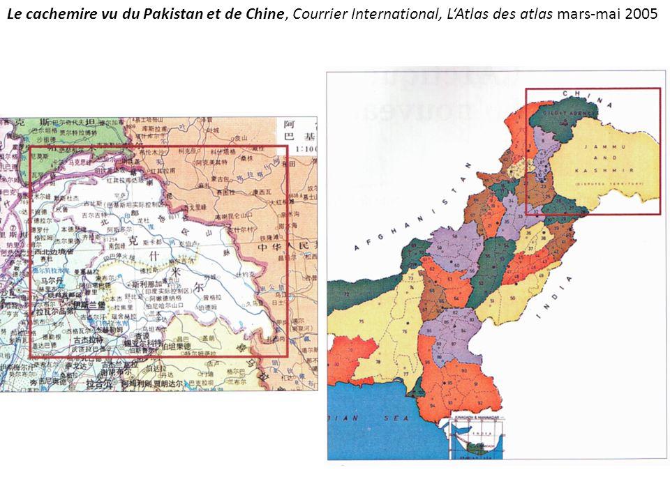 Le cachemire vu du Pakistan et de Chine, Courrier International, LAtlas des atlas mars-mai 2005