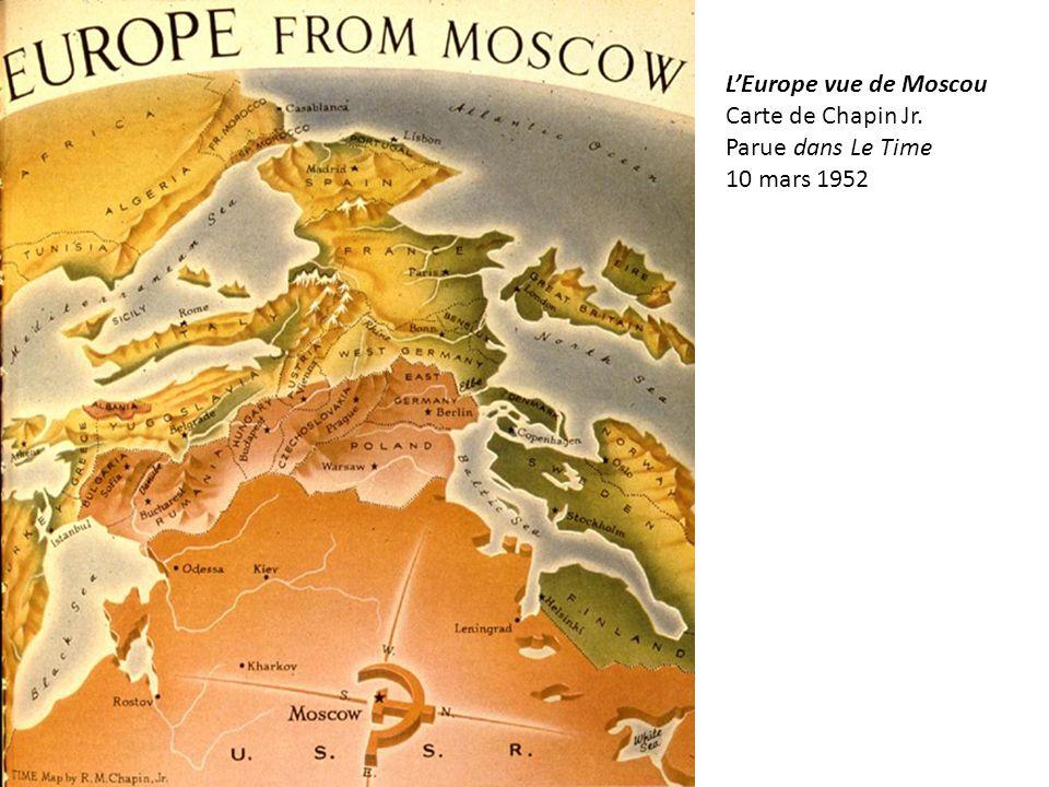 LEurope vue de Moscou Carte de Chapin Jr. Parue dans Le Time 10 mars 1952