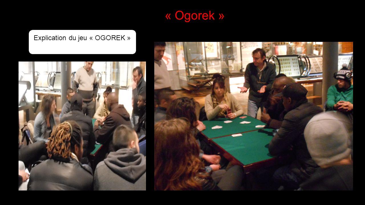 Explication du jeu « OGOREK » « Ogorek »
