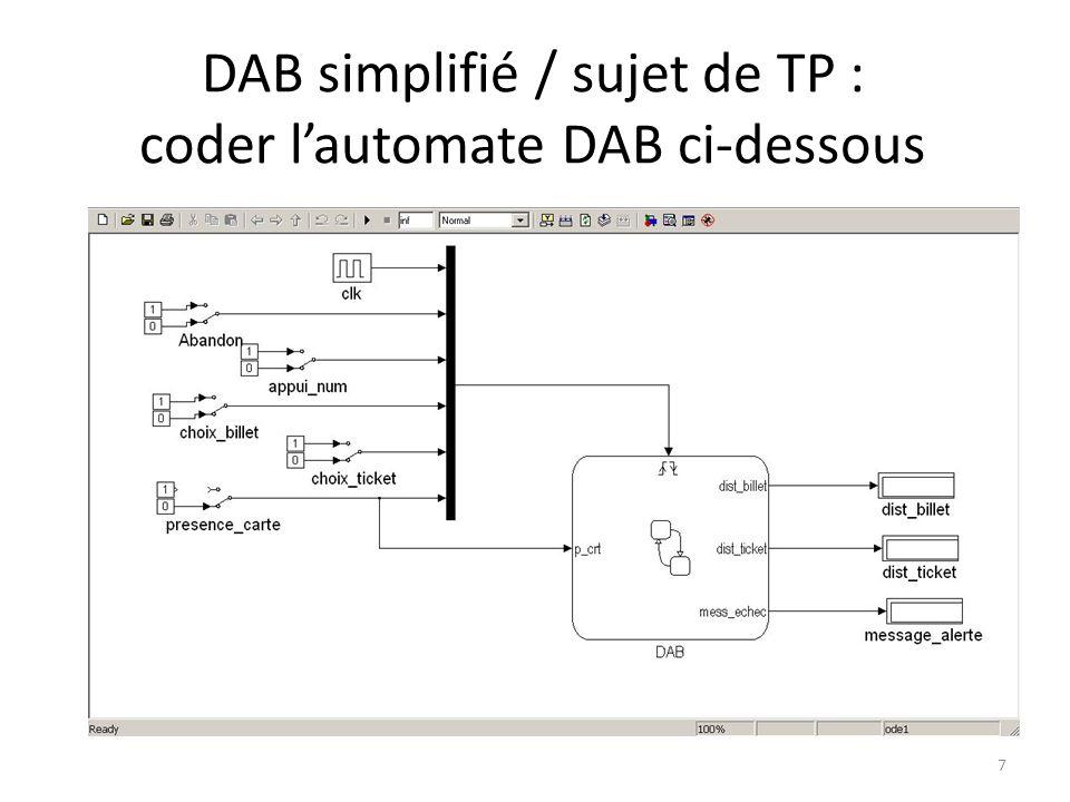 DAB simplifié / sujet de TP : coder lautomate DAB ci-dessous 7