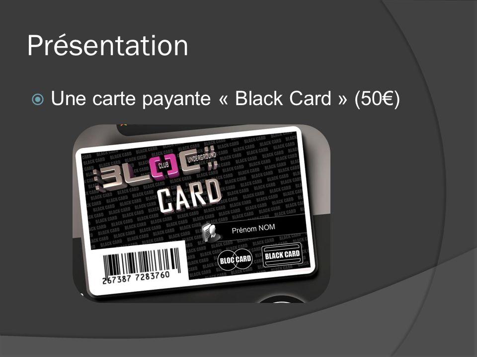 Présentation Une carte payante « Black Card » (50)