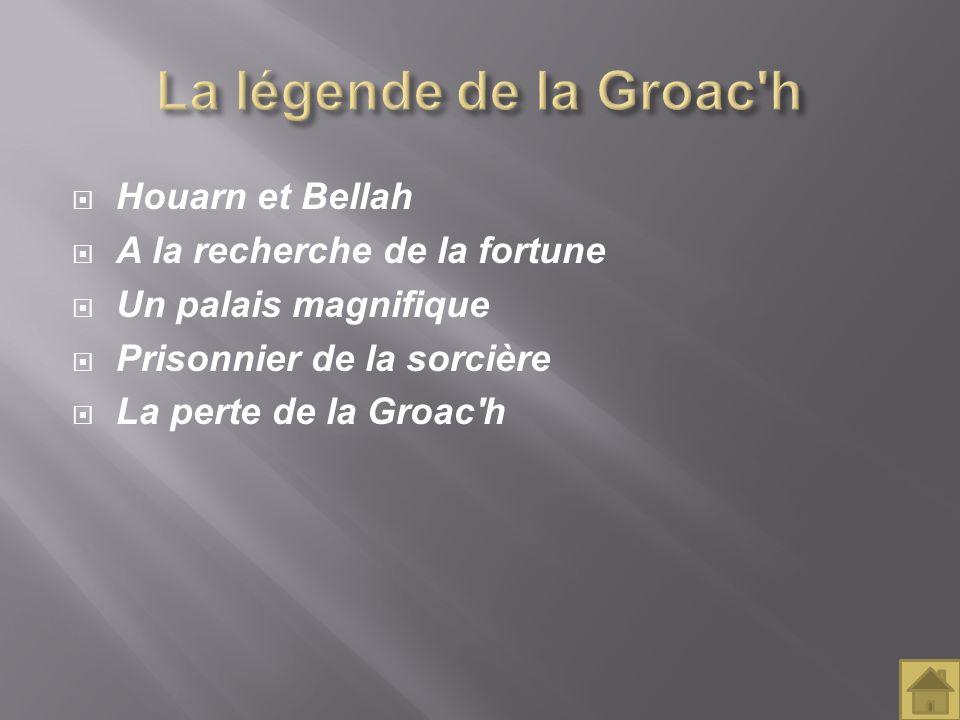 Houarn et Bellah A la recherche de la fortune Un palais magnifique Prisonnier de la sorcière La perte de la Groac'h