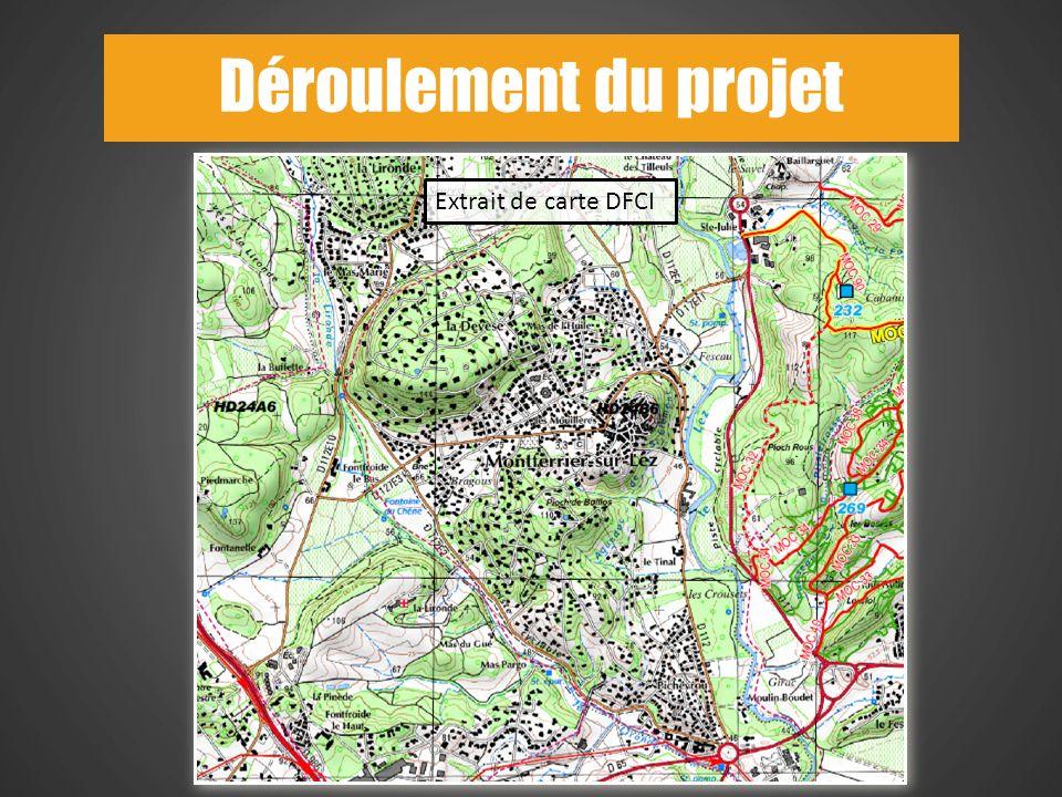7 Extrait de carte DFCI Déroulement du projet