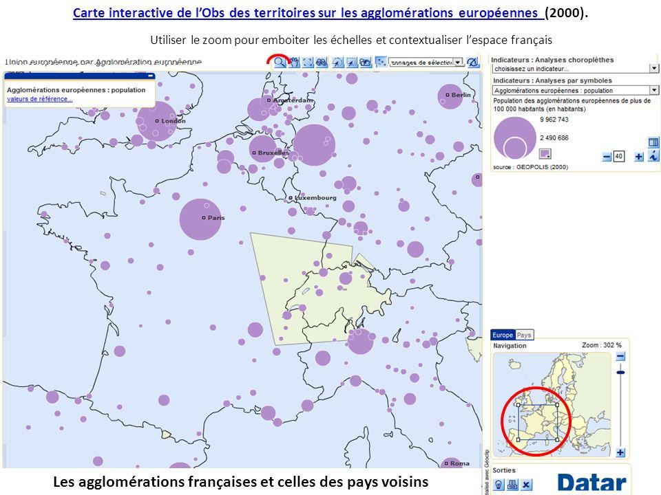 Carte interactive de lObs des territoires sur les agglomérations européennes Carte interactive de lObs des territoires sur les agglomérations européen