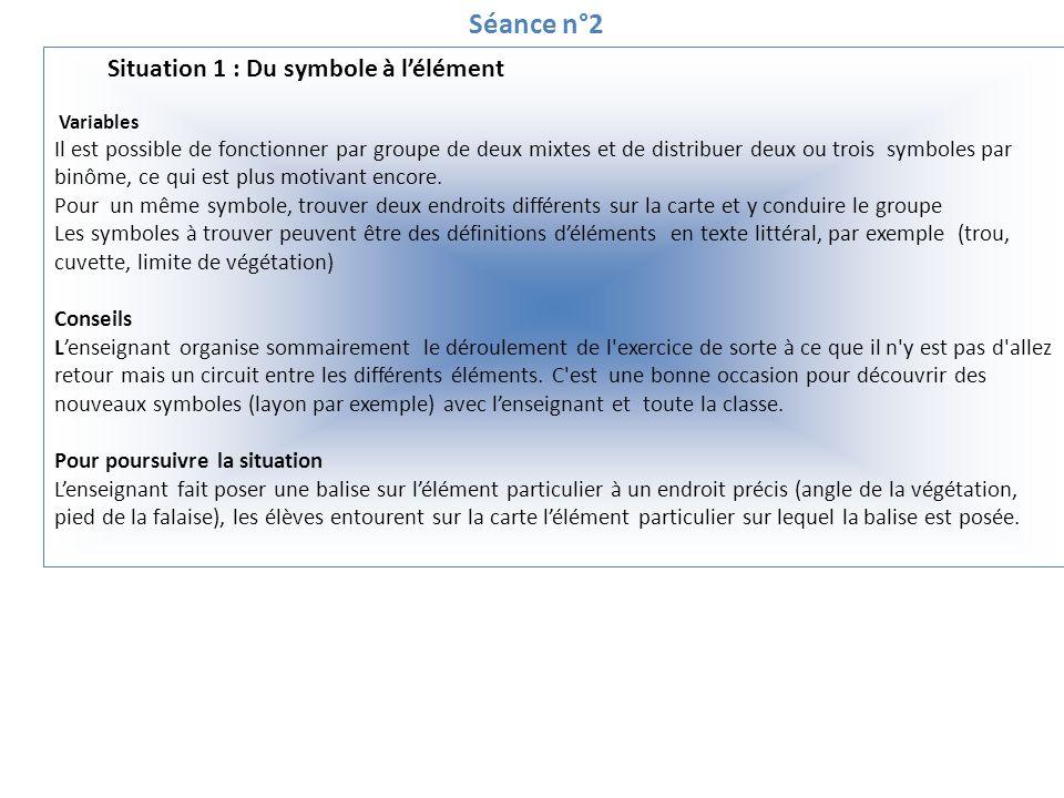 Séance n°2 Situation 1 : Du symbole à lélément Questionner Appliquez-vous la règle du « POP » pendant le déplacement .