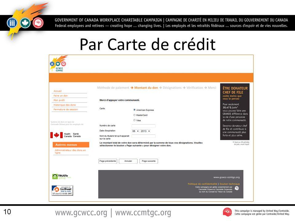 Par Carte de crédit 10