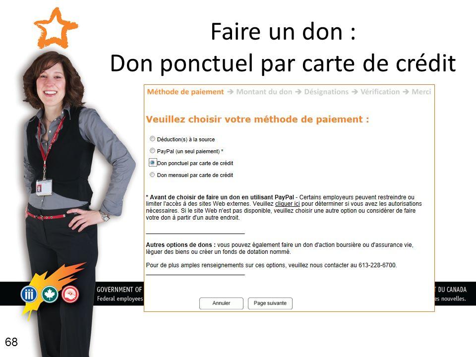 Faire un don : Don ponctuel par carte de crédit 68