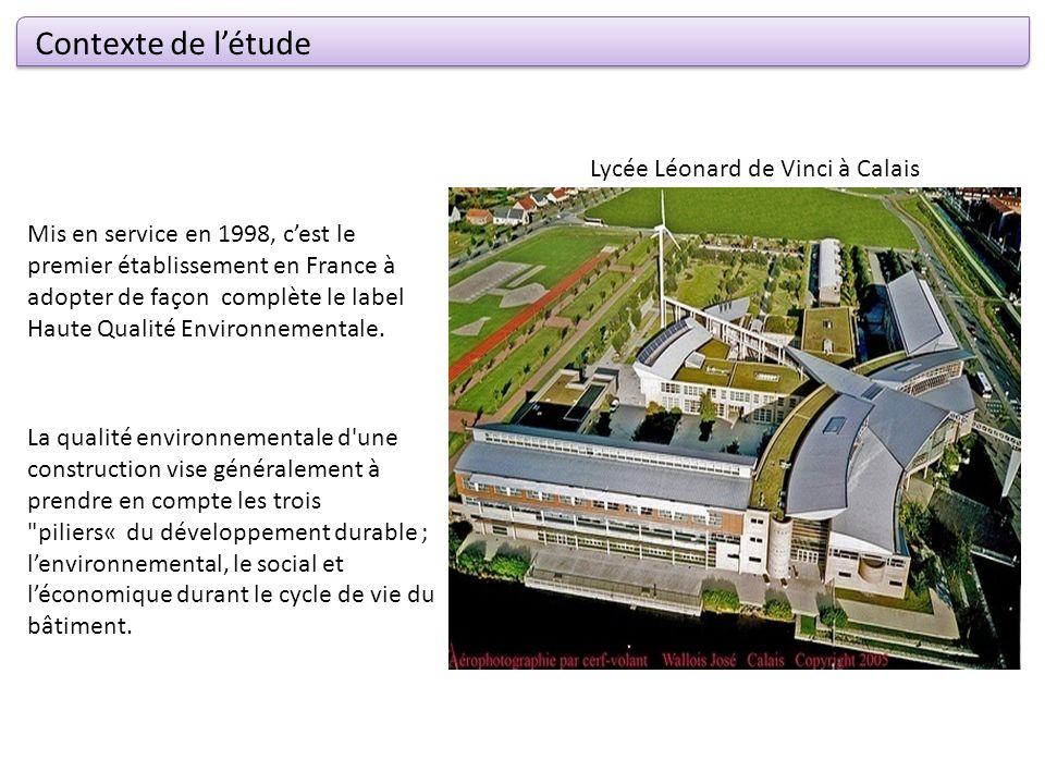 Contexte de létude Mis en service en 1998, cest le premier établissement en France à adopter de façon complète le label Haute Qualité Environnementale