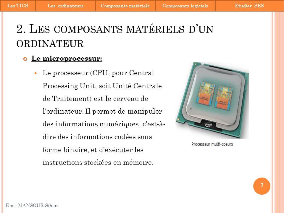 Le chipset: Le Chipset est un terme anglais que lon pourrait traduire en français par; ensemble de puces ou circuits.