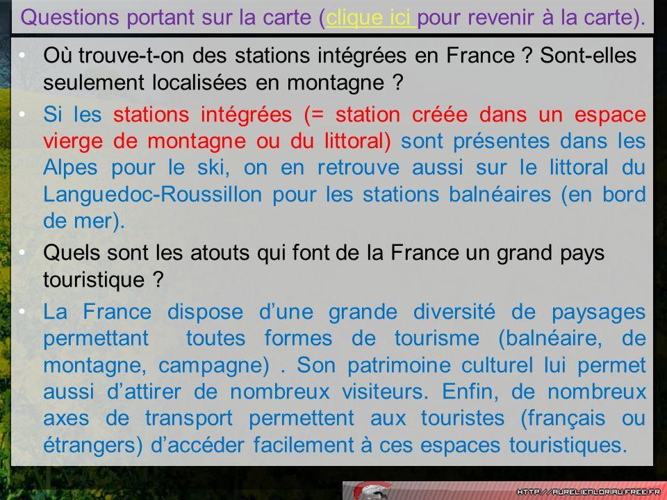 Où trouve-t-on des stations intégrées en France ? Sont-elles seulement localisées en montagne ? Si les stations intégrées (= station créée dans un esp