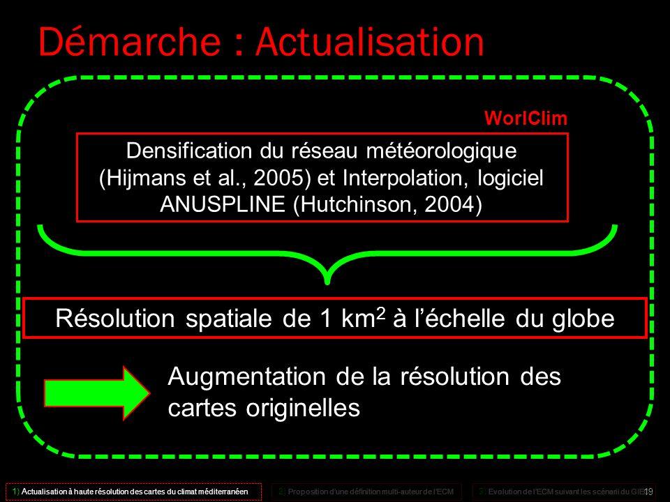 1) A ctualisation à haute résolution des cartes du climat méditerranéen 2) Proposition dune définition multi-auteur de lECM 3) Evolution de lECM suiva