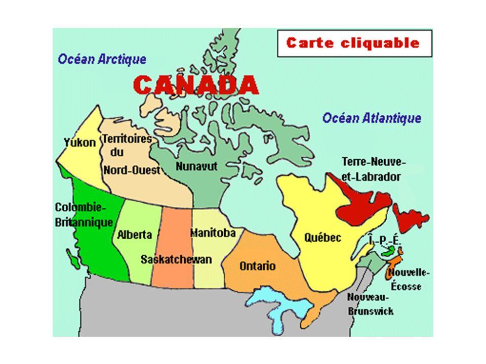 Le savais-tu??.Le Canada na pas toujours été divisé en provinces et territoires comme aujourdhui.