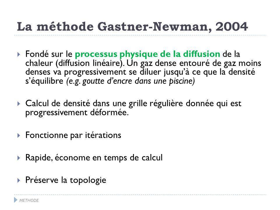 La méthode Gastner-Newman, 2004 Fondé sur le processus physique de la diffusion de la chaleur (diffusion linéaire).