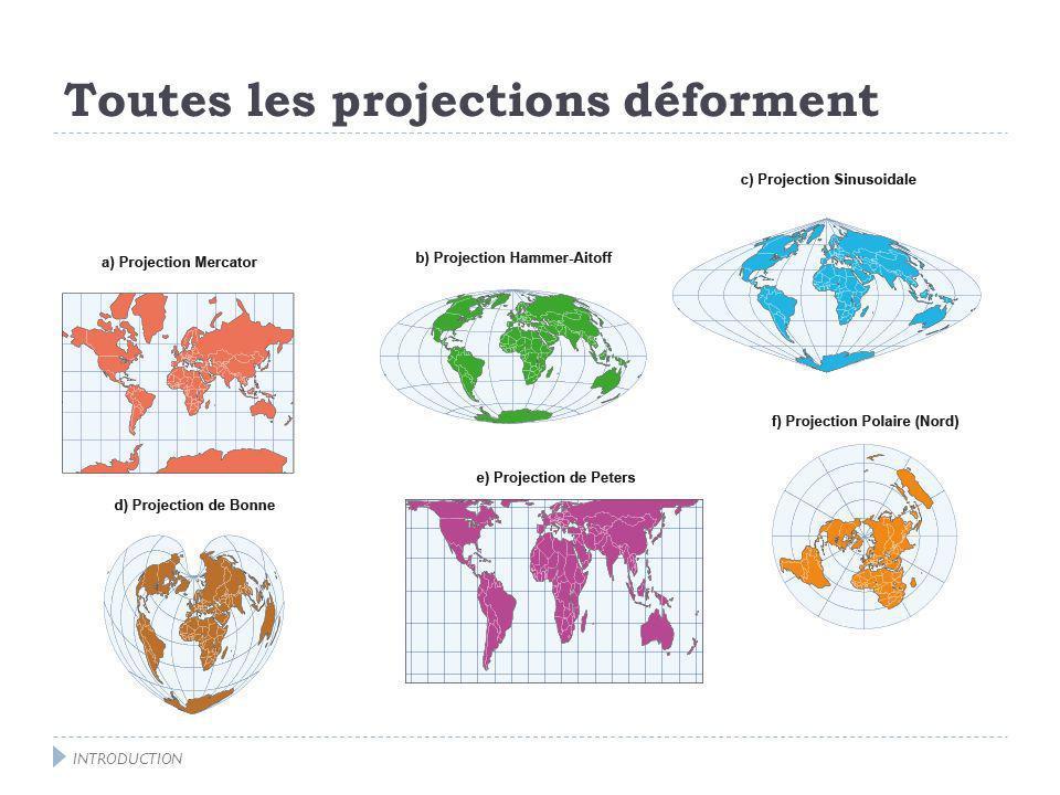 Exemple, la projection de Mercator INTRODUCTION