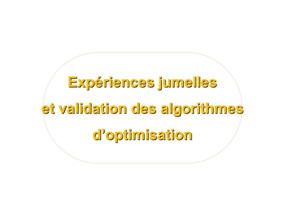 Expériences jumelles et validation des algorithmes doptimisation