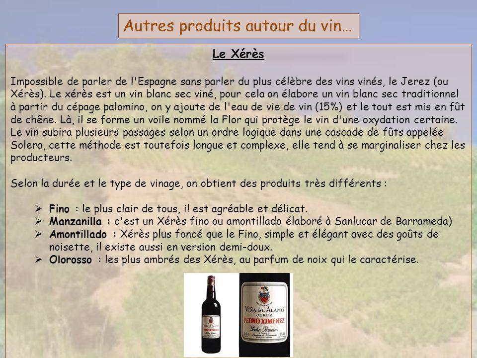 Autres produits autour du vin… Le Xérès Impossible de parler de l'Espagne sans parler du plus célèbre des vins vinés, le Jerez (ou Xérès). Le xérès es