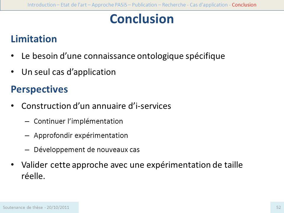 Merci de votre attention Questions ! 53Soutenance de thèse - 20/10/2011