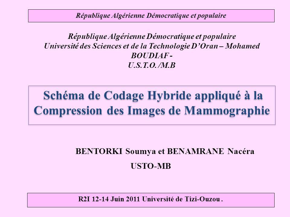 République Algérienne Démocratique et populaire Université des Sciences et de la Technologie DOran – Mohamed BOUDIAF - U.S.T.O.