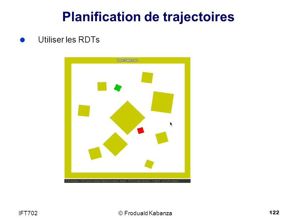 122 Planification de trajectoires Utiliser les RDTs © Froduald KabanzaIFT702