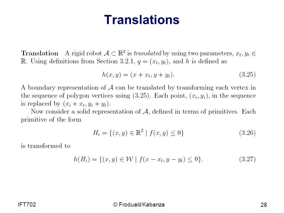 Translations © Froduald KabanzaIFT702 28