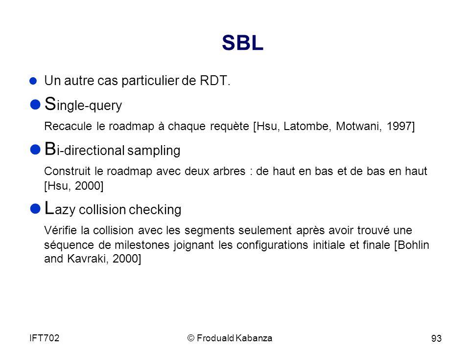 SBL Un autre cas particulier de RDT.