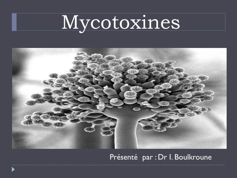 Mycotoxines Présenté par : Dr I. Boulkroune