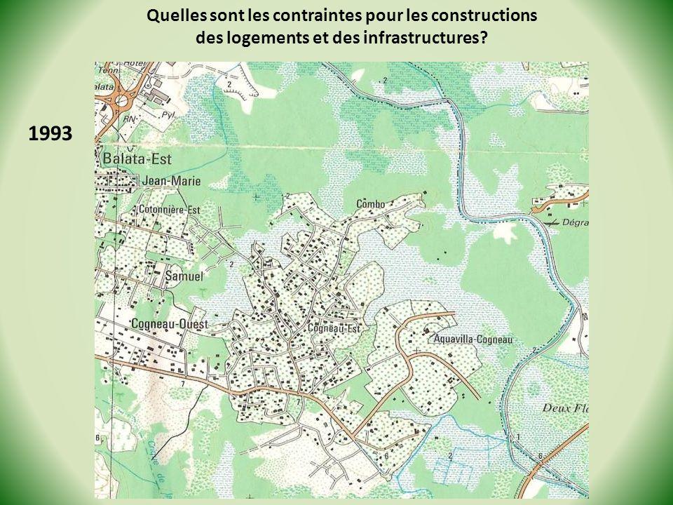 1993 Quelles sont les contraintes pour les constructions des logements et des infrastructures?