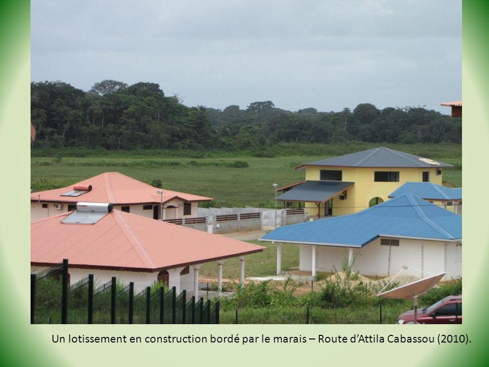 Un lotissement en construction bordé par le marais – Route dAttila Cabassou (2010).