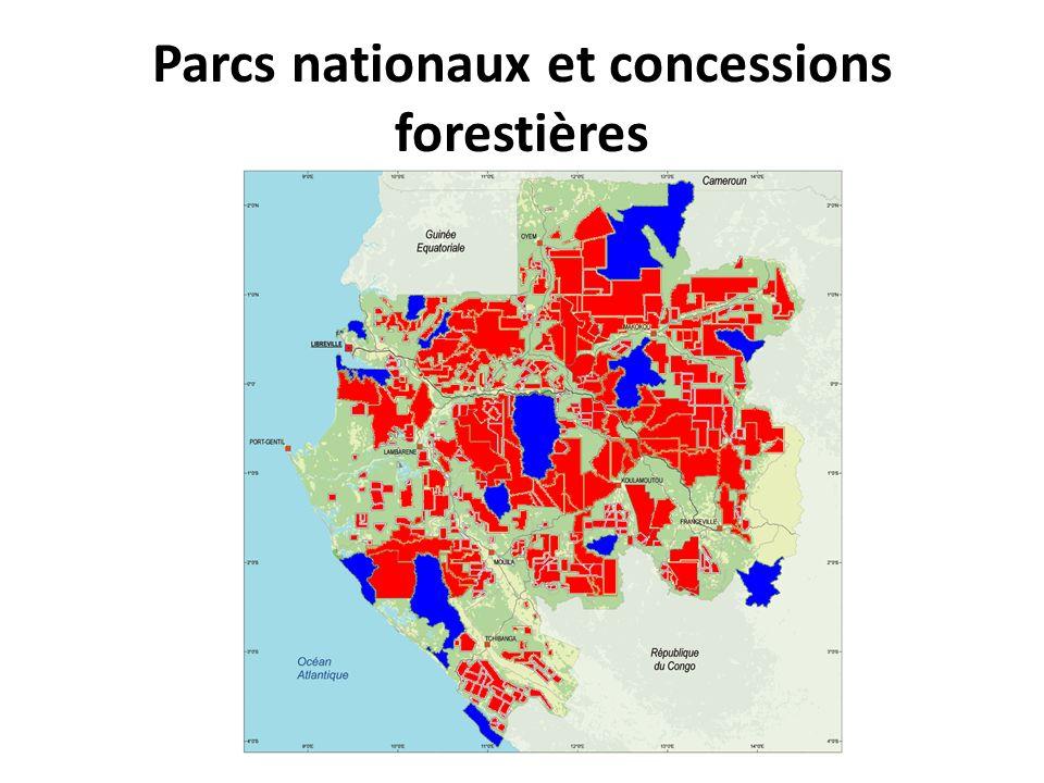 Parcs nationaux et concessions forestières