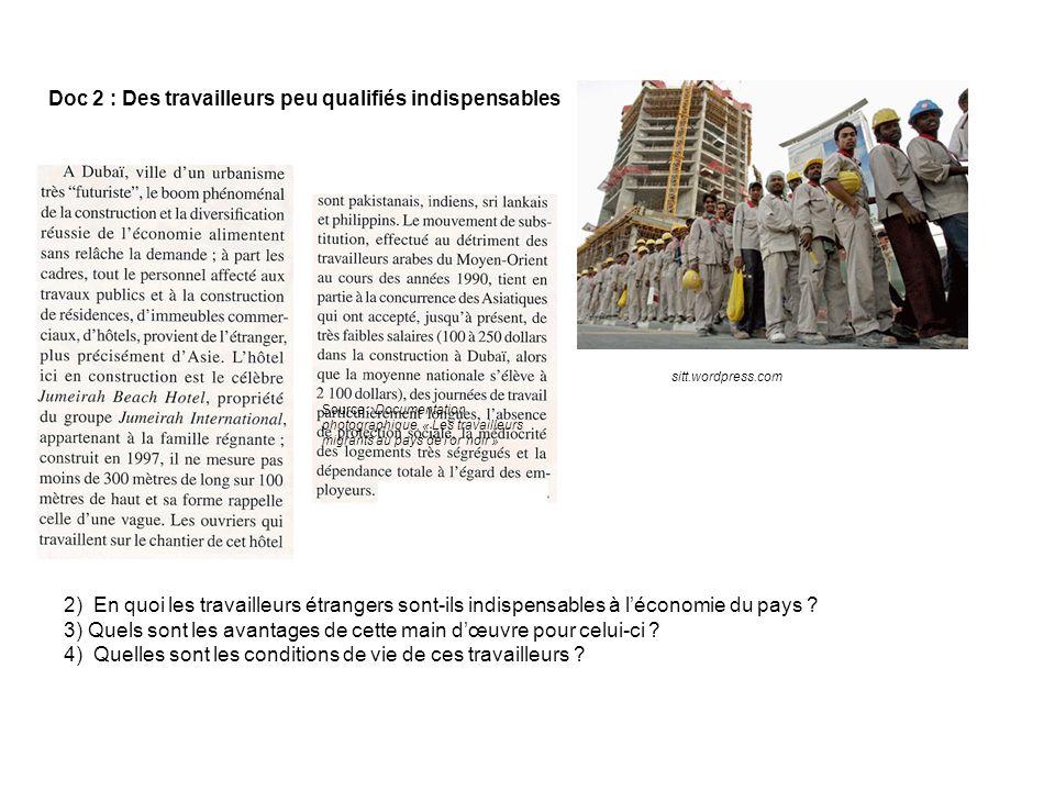 2) En quoi les travailleurs étrangers sont-ils indispensables à léconomie du pays .