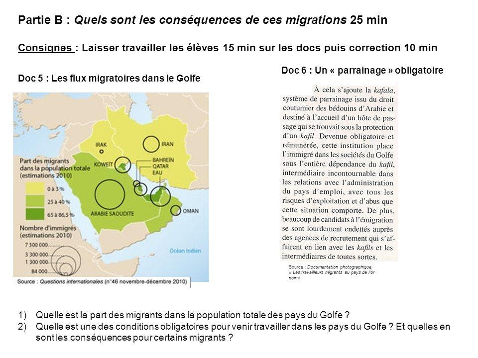 Doc 7 : Les transferts de fonds des émigrés 3) Quelle est lévolution des transferts de fonds des migrants vers leur pays dorigine.