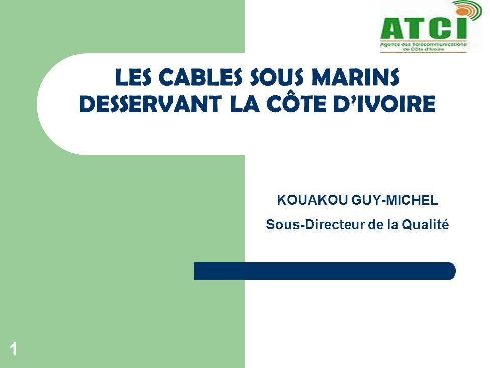 KOUAKOU GUY-MICHEL Sous-Directeur de la Qualité LES CABLES SOUS MARINS DESSERVANT LA CÔTE DIVOIRE 1