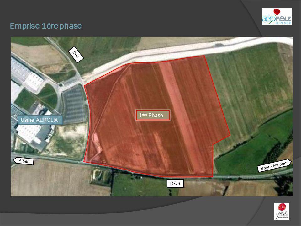 Emprise 1ère phase 1 ère Phase Albert Bray - Fricourt D329 D64 Usine AEROLIA