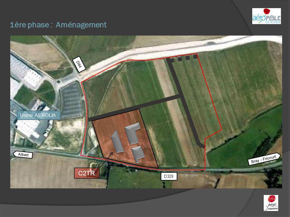 1ère phase : Aménagement Albert Bray - Fricourt D329 D64 C2TR Usine AEROLIA