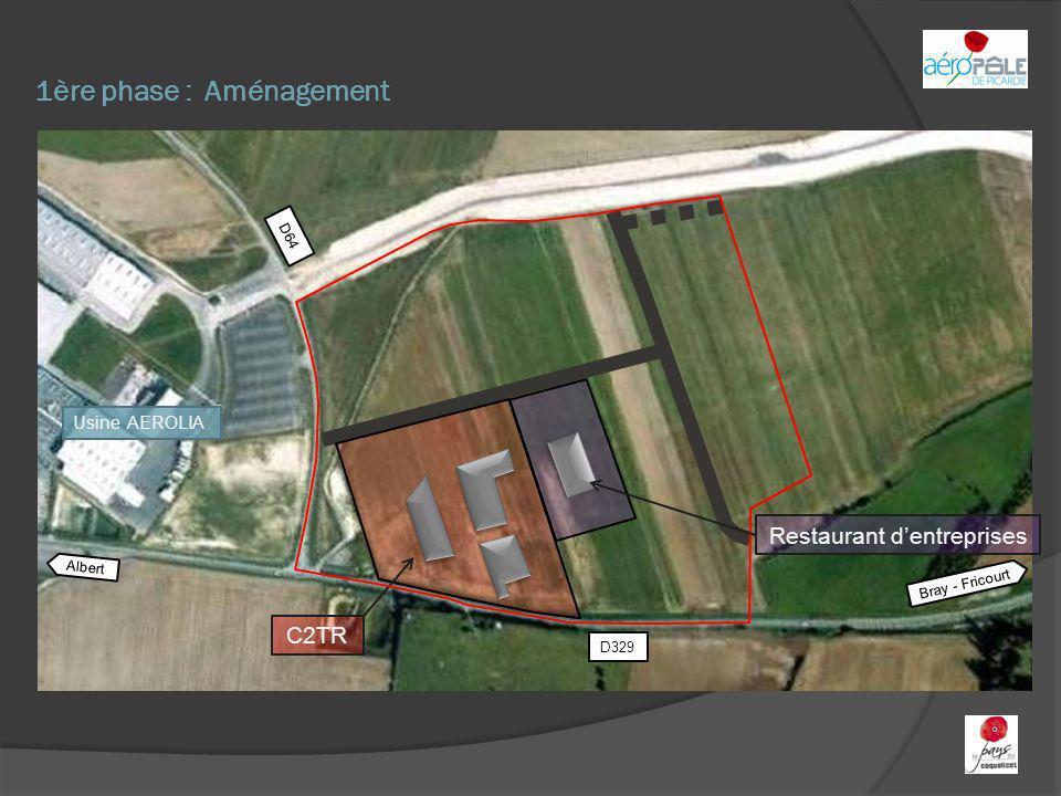 1ère phase : Aménagement Albert Bray - Fricourt D329 D64 C2TR Restaurant dentreprises Usine AEROLIA
