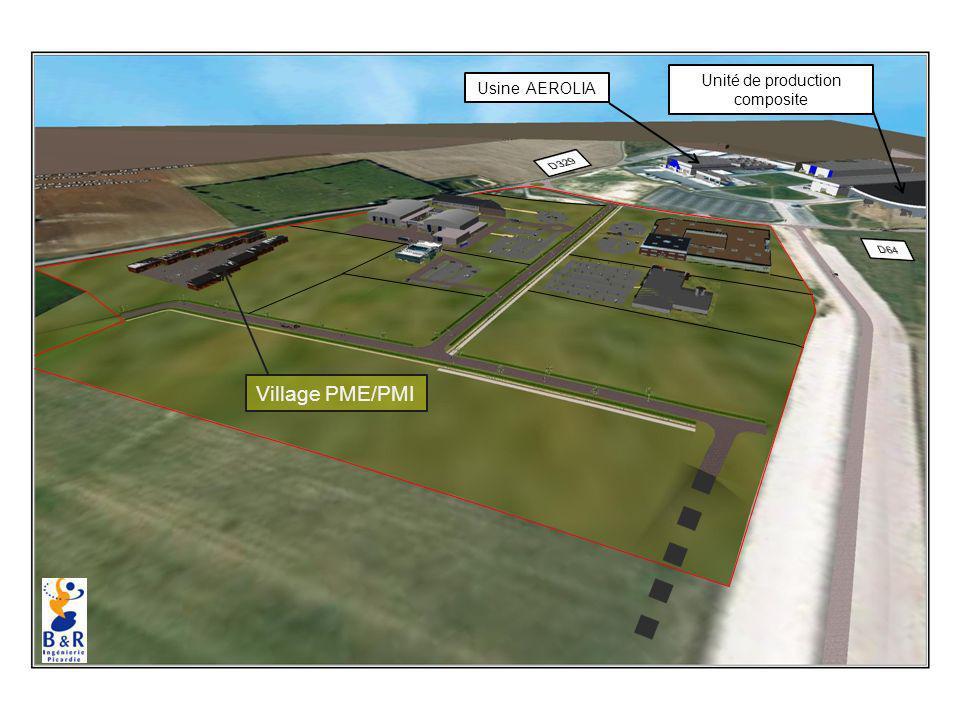 Village PME/PMI Usine AEROLIA Unité de production composite