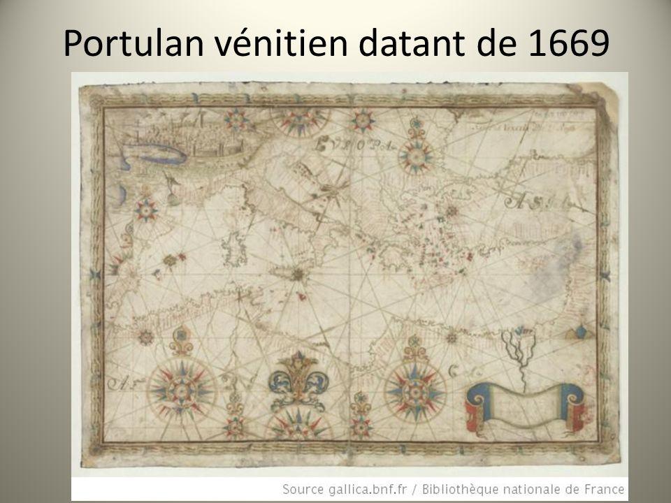 Portulan vénitien datant de 1669
