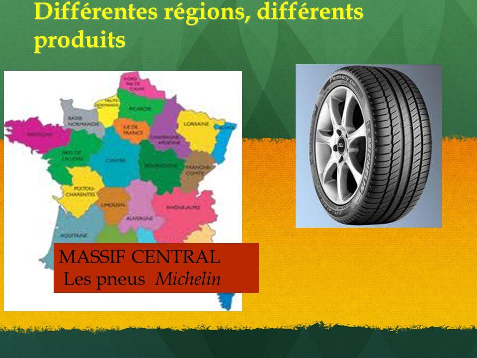 Différentes régions, différents produits MASSIF CENTRAL Les pneus Michelin