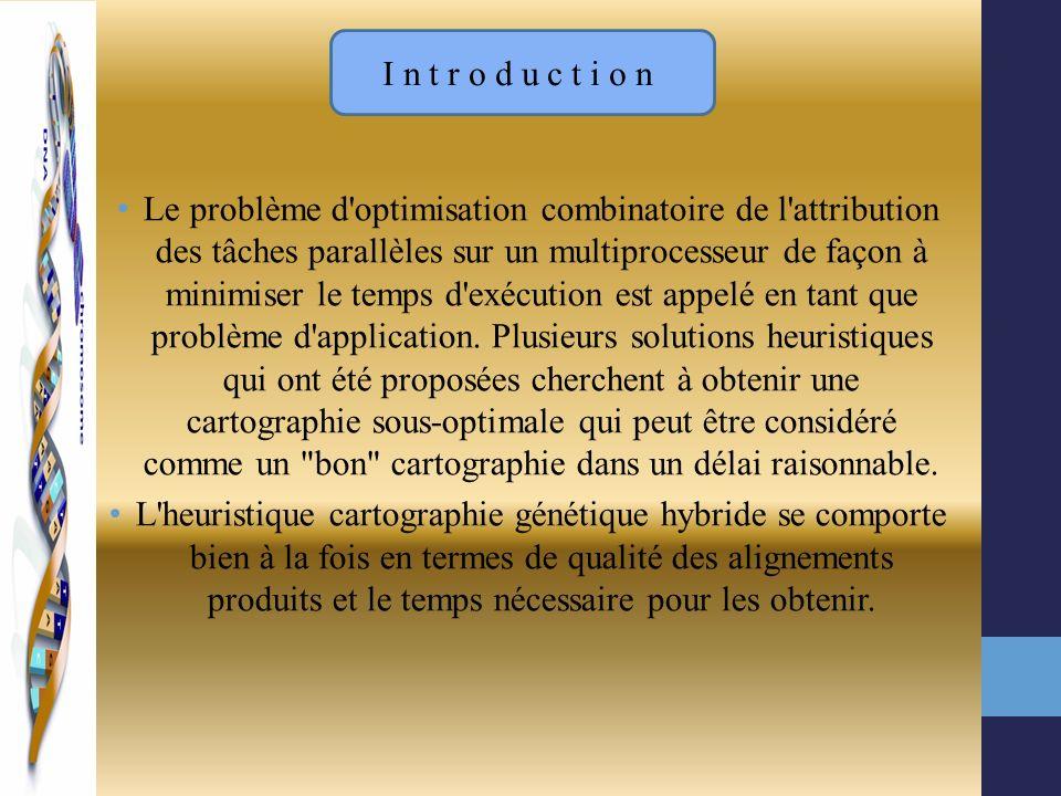 Le problème d'optimisation combinatoire de l'attribution des tâches parallèles sur un multiprocesseur de façon à minimiser le temps d'exécution est ap