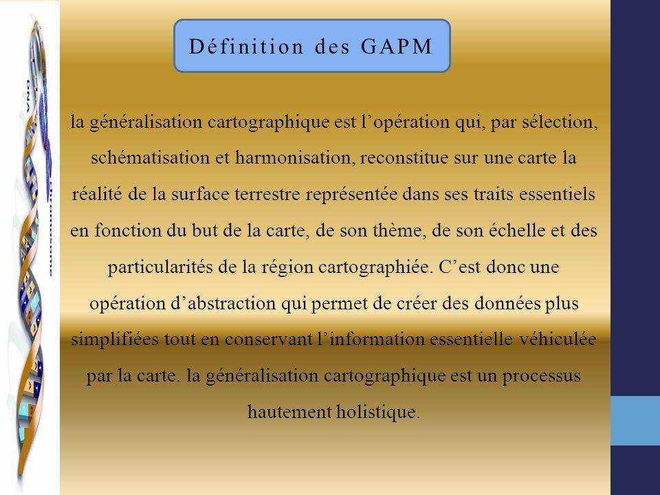 la généralisation cartographique est lopération qui, par sélection, schématisation et harmonisation, reconstitue sur une carte la réalité de la surfac