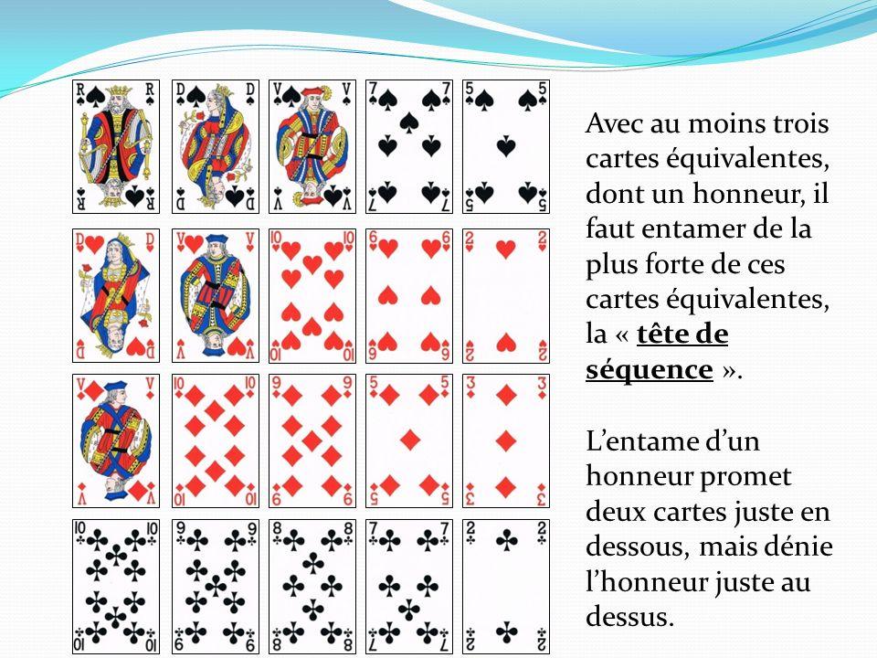 Lentame dun honneur promet deux cartes juste en dessous, mais dénie lhonneur juste au dessus.