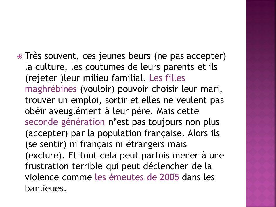 La plupart dentre eux sont (naître)en France. Ils ont (vivre) toute leur vie en France mais ils sont toujours (considérer) comme des immigrés et trait