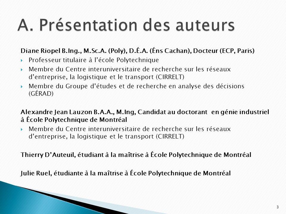 Diane Riopel B.Ing., M.Sc.A. (Poly), D.É.A. (Éns Cachan), Docteur (ECP, Paris) Professeur titulaire à lécole Polytechnique Membre du Centre interunive