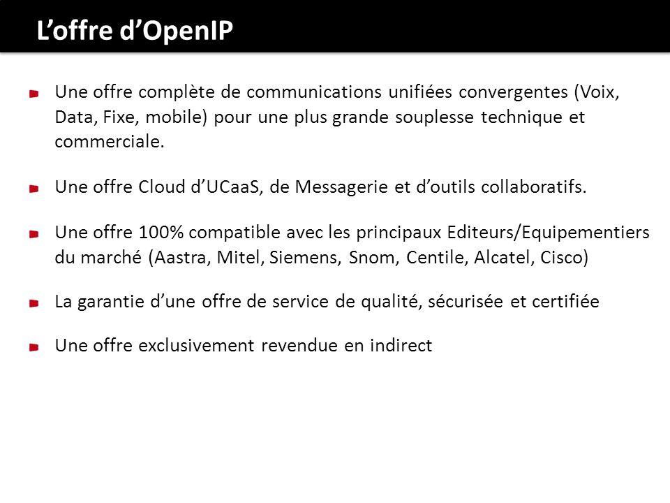 Une offre complète de communications unifiées convergentes (Voix, Data, Fixe, mobile) pour une plus grande souplesse technique et commerciale.