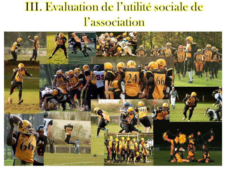Evaluation de lutilité sociale de lassociation selon les grilles du rapport Gadrey.
