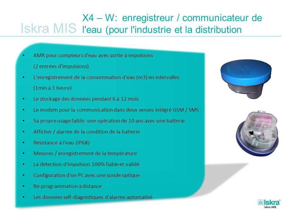 Iskra MIS X4 – W: enregistreur / communicateur de l'eau (pour l'industrie et la distribution AMR pour compteurs d'eau avec sortie à impulsions (2 entr