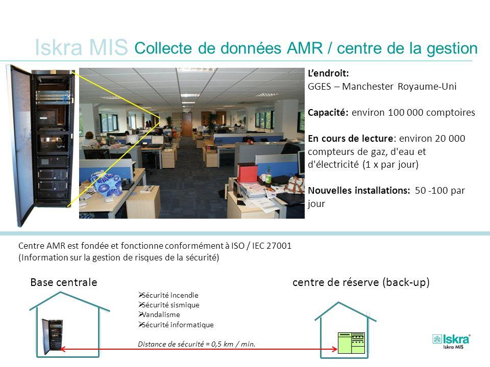 Iskra MIS Collecte de données AMR / centre de la gestion Centre AMR est fondée et fonctionne conformément à ISO / IEC 27001 (Information sur la gestio