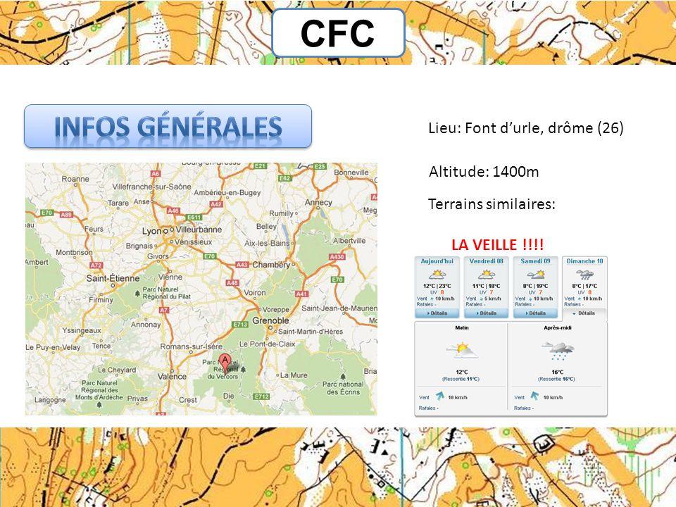 CFC Lieu: Font durle, drôme (26) Altitude: 1400m Terrains similaires: LA VEILLE !!!!